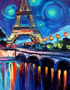 Van Gogh Eiffel Tower: