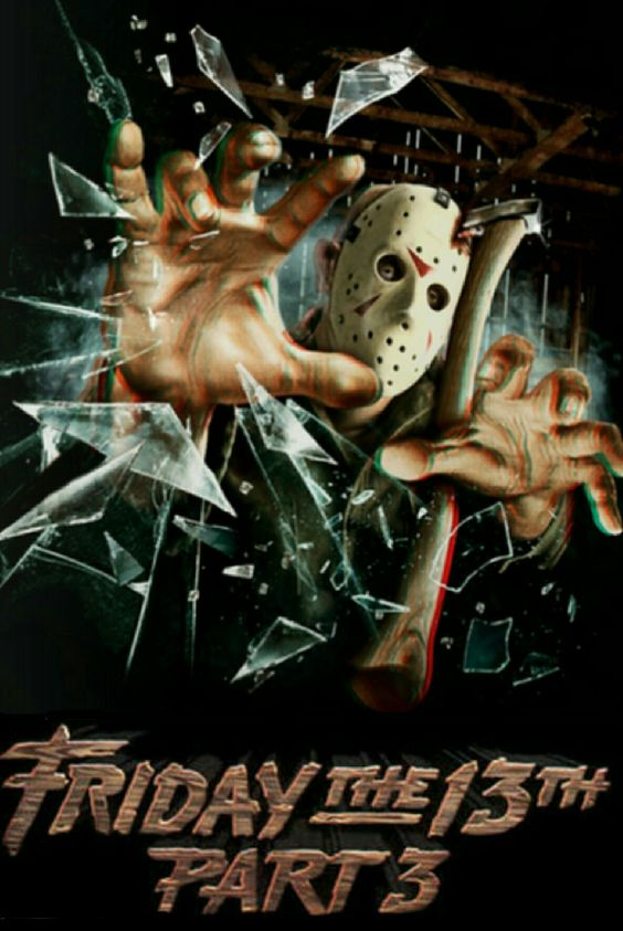 Friday the 13th part 3 horror movie poster Slasher