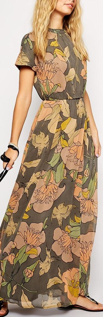 floral maxi- So easy wearing and nicely modest up top as well! :):