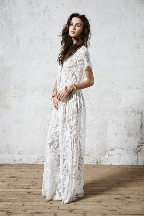 Bohemian boho and indie hipster on pinterest for Bohemian white wedding dress