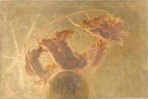 Dance of the Hours, 1899 by Gaetano Previati (Italian 1852-1920)