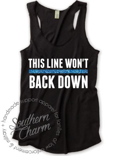 This Line Will Not Back Down Top - Southern Charm Designs