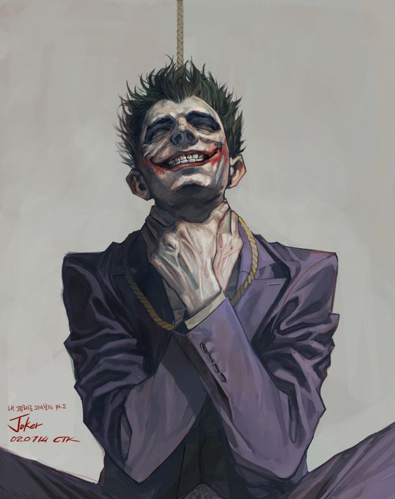 Daily Drawing 02/07/14 Joker from Arkham Origin