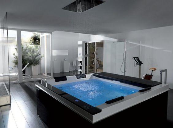 Pin By Carolyn Kieger On Hot Tub Inspiration Indoor Hot Tub Hot Tub Room Indoor Jacuzzi