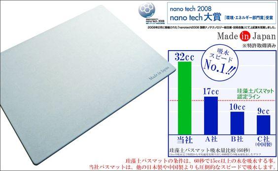 【日本製】珪藻土バスマット Made in Japan刻印 レギュラーサイズ (57.5cm×42.5cm) 特許取得済み