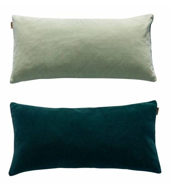 OYOY Cushion Lia sided green velveteen 31x60cm | Sierkussens