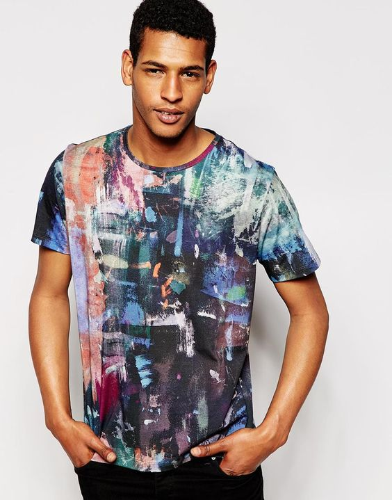 PS by Paul Smith T-Shirt with Painters Palette Print