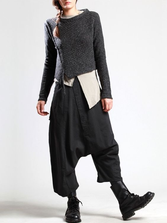 VERY LOW-CROTCH COTTON TROUSERS WITH PLUSH IN THE INSIDE - JACKETS, JUMPSUITS, DRESSES, TROUSERS, SKIRTS, JERSEY, KNITWEAR, ACCESORIES - Woman -