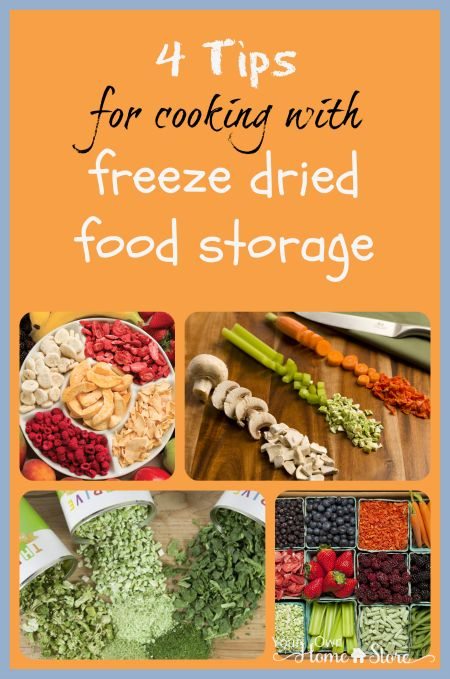 Four Tips For Cooking With Freeze Dried Foods Preserving