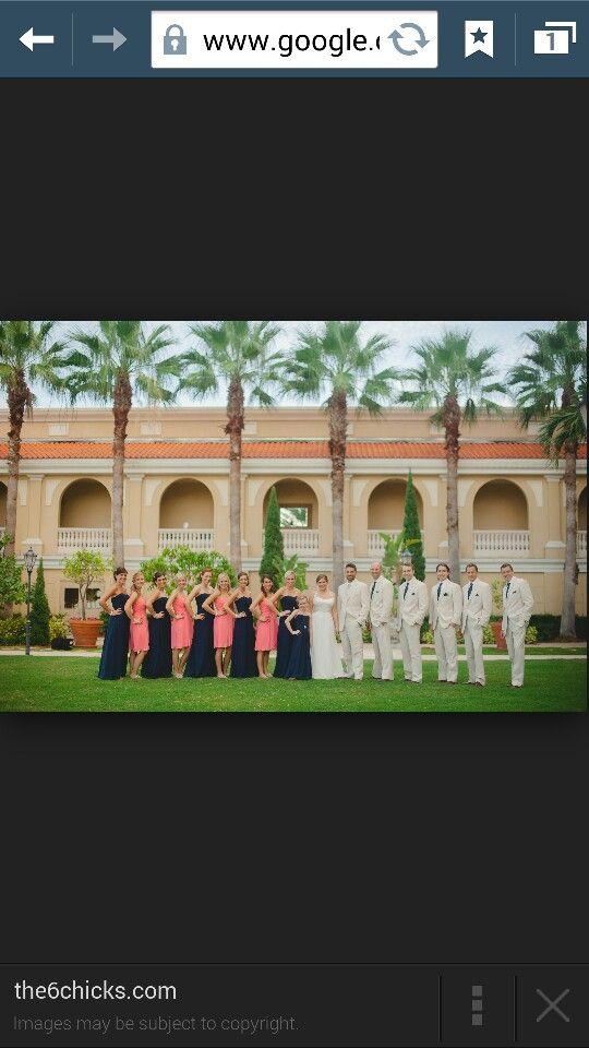 Alternating bridesmaid dresses