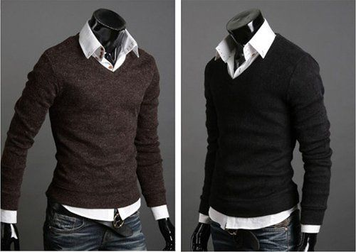 Fashion,Slim,Casual,Mens,Sweaters,Mens,Cashmere,Sweater,