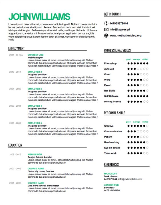 finding the perfect resume template resume maker style inspiration