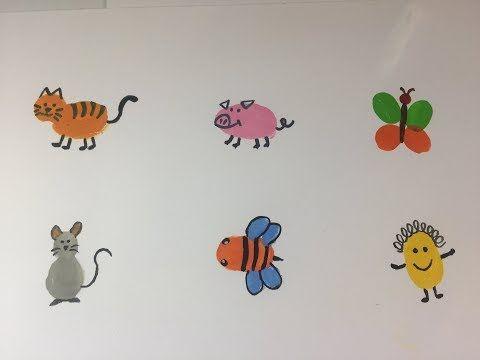 Animals Thumb Painting