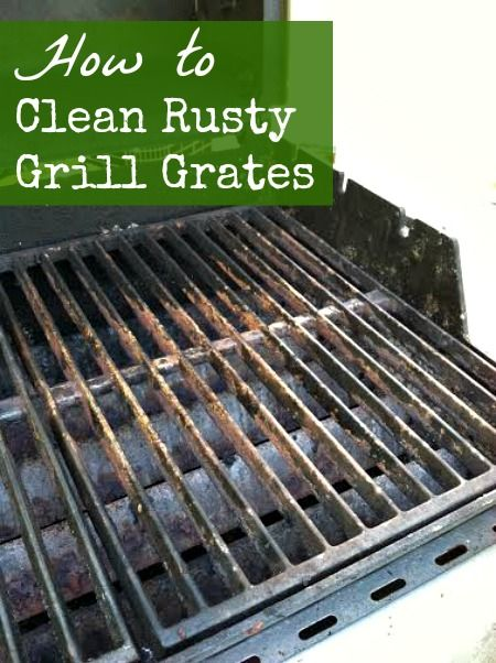how to clean rust of cast iron grill