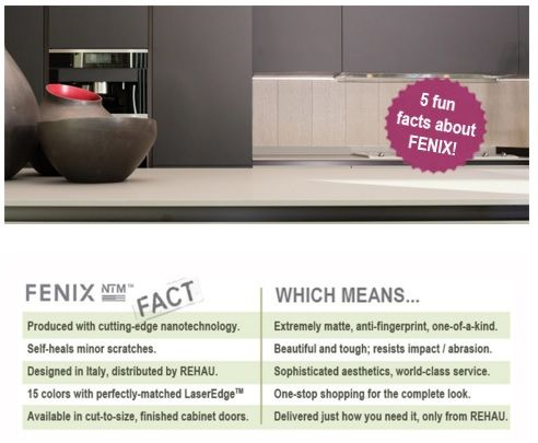 5 Fun Facts about FENIX NTM matte surfaces for interior design.  https://www.rehau.com/us-en/furniture/surfaces/fenix | Super Matte Kitchen  | Pinterest ...
