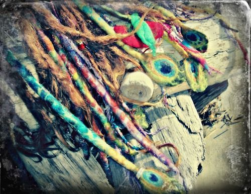 dreads on driftwood