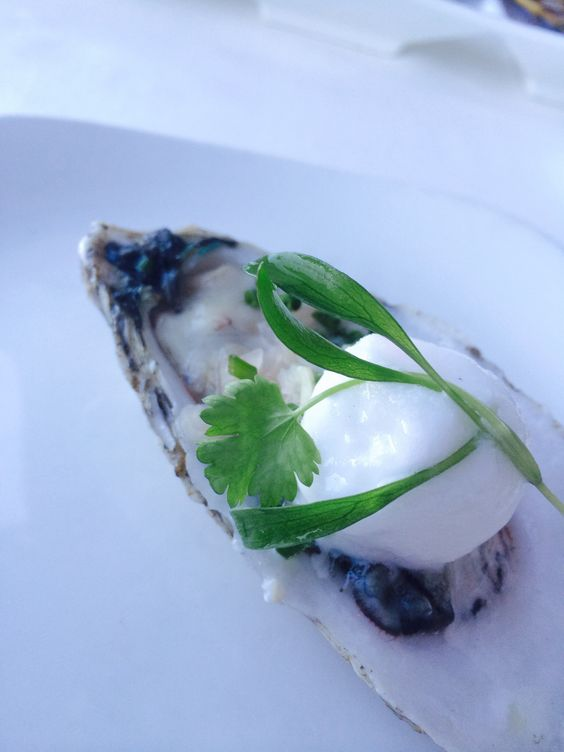 www.oesterkoning.nl #bluepoint #oyster with lemon ice #yummers