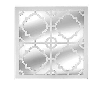 Espelho de Parede Decor Branco - 39,5x39,5cm