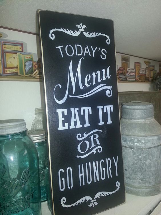 Today S Menu Hand Painted Primitive Wood Sign Home Decor Housewares Wall Decor