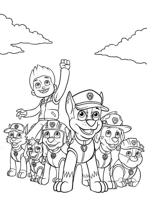 Coloriage Et Dessin Pat Patrouille Coloriage De La Pat Patrouille Au Complet Meme Ryder Dessin Pat Patrouille Coloriage Pat Patrouille Coloriage Paw Patrol