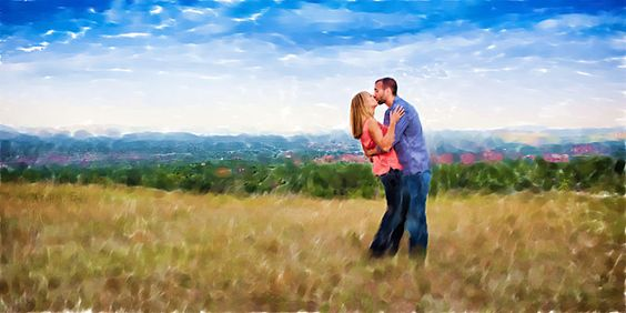 Couples Engagement Oil based painting.