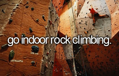 Indoor rock climbing #bucketlist #adventure Completed this adventure on 10/19/2013 Sheryl and I loved it! Definitely an adventure to continue!