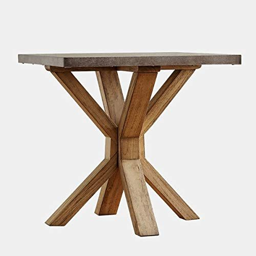 Wood End Table Zinc Topped End Table Honey Brown Oak End