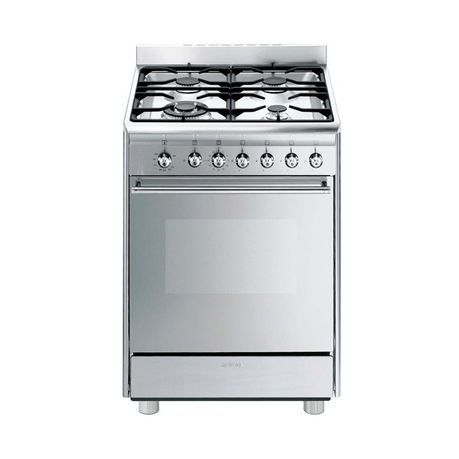 Smeg 60cm Stainless Steel Concert Cooker With 4 Burner Gas Hob Ssa60ggx9 Buy Online In South Africa Takealot Com Gas Cooker Smeg Gas Hob