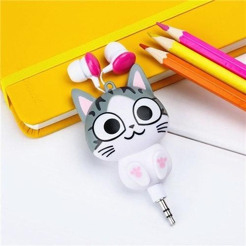 b5e2f359cef592 Cartoon Retractable Earphone   Products in 2019   Diy headphones ...