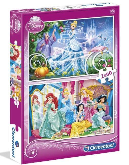 Disney Hercegnők puzzle 2x60 - Clementoni - 02 - Gyerekajándék