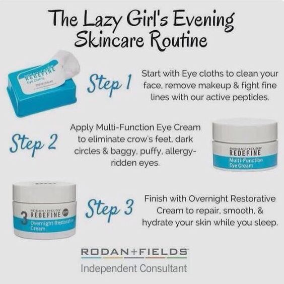 Every girl has those lazy nights. This combination is perfect for those exhausting nights. Redefine eye cloths not only wipe away makeup, however they also help reduce crows feet, multi-function eye cream and the overnight restoration cream ! Http://kylieo.myrandf.com/ca Become a PC and receive 10% off products and FREE shipping.