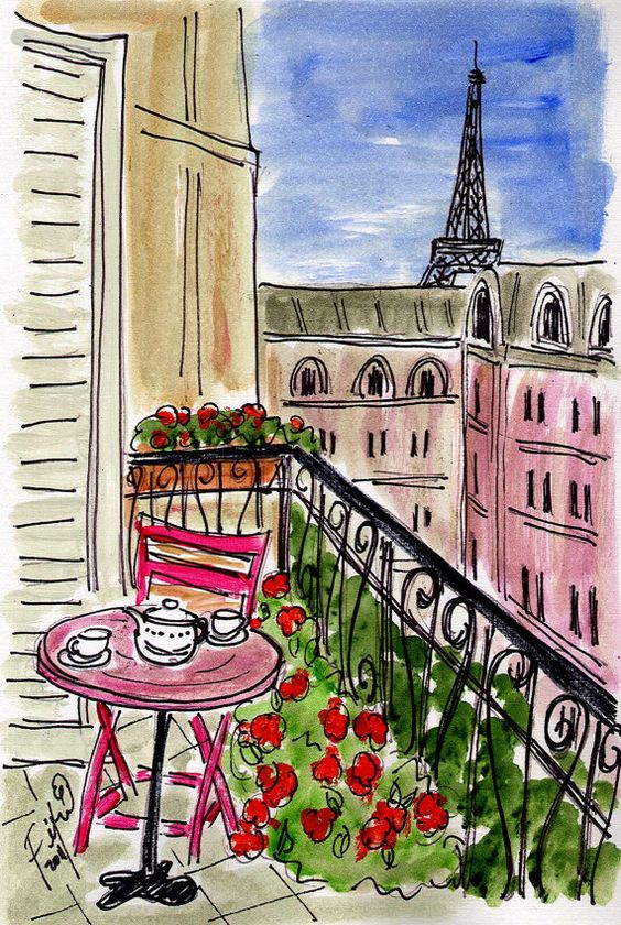 Pink Table Pink Chair Pink Paris by fififlowers on Etsy, $5.00