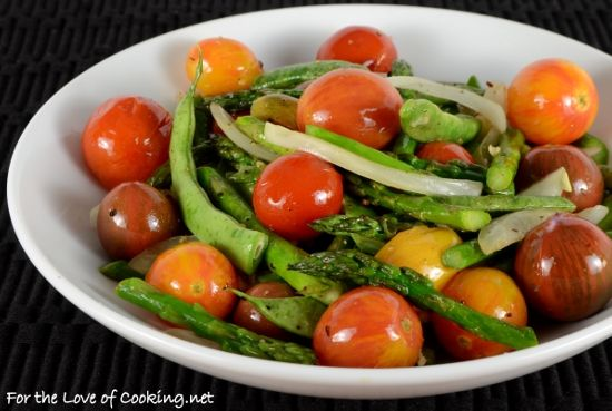 Roasted Heirloom Tomatoes, Asparagus, and Green Beans | Sensational ...