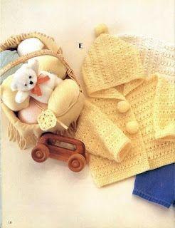 Croche pro Bebe: Casaquinhos em croche