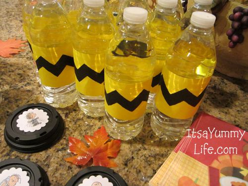 Free Charlie Brown Party Printables - make it with yellow duct tape and a fat…: