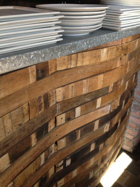 Barrel Stave Wall Winery Stuff Pinterest Bar And Barrels