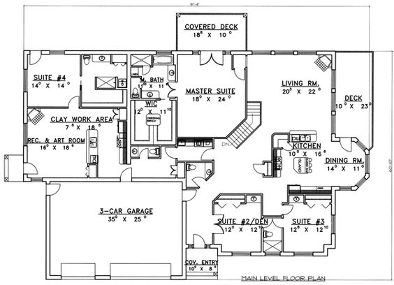Pinterest the world s catalog of ideas for Ranch house plans with inlaw suite