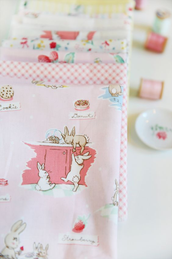 Darling fabric by Lauren Nash called Bunnies & Cream. Will be avail soon! @pennyrosefabric