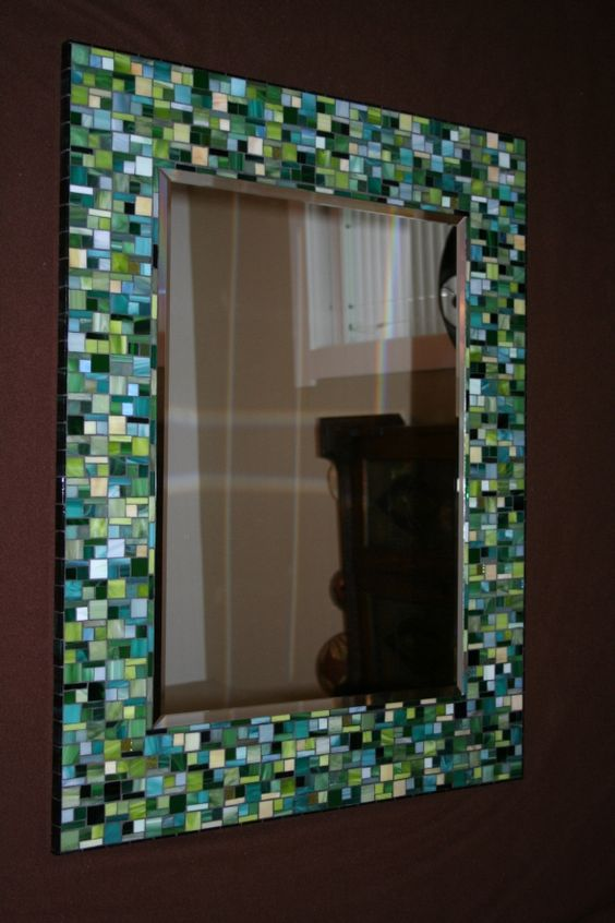 Diy mosaic mirror mosaic ideas pinterest entryway for Glass and mirror craft