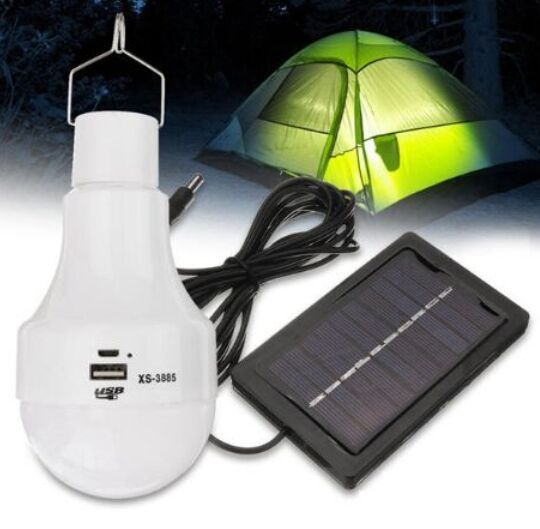 3w Solar Panel Power Led Bulb Light Portable Rechargeable Outdoor Camping Tent Emergency Hook Lamp Solar Panels Power Led Solar