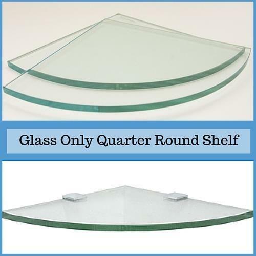 3 8 Tempered Quarter Round Corner Glass Shelf Flat Polish Edge 30 95 Corner Shelves Ideas Of Corner Shelves Cornershelves Glass Shelves Corner Shelves Shelves