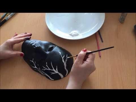 Kolay Maske Sari Cicekli Siyah Mask Boyama Izle Ogren Dende Yap