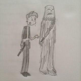 Han Solo e Chewbacca!