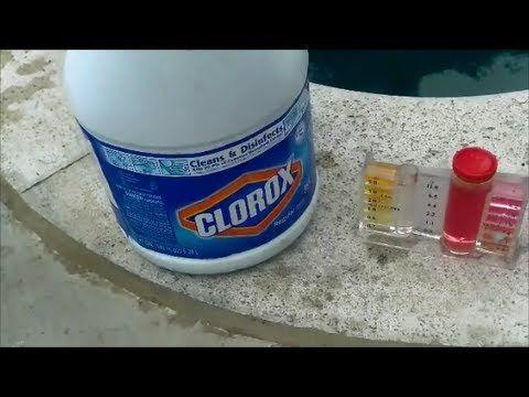 Cómo utilizar blanqueador para desinfectar  la Piscina