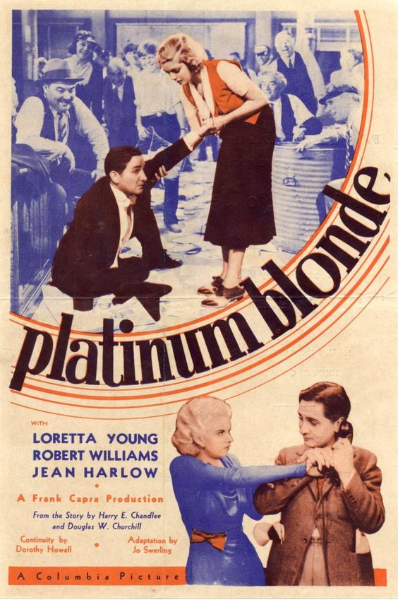 I absolutely adore this movie. It has Robert Williams who died just after the film was made (but watching this shows that he was going to be a big star!) Along with the young Jean Harlow (still with semi-full eyebrows!) and an 18-year old Loretta Young. So amazing