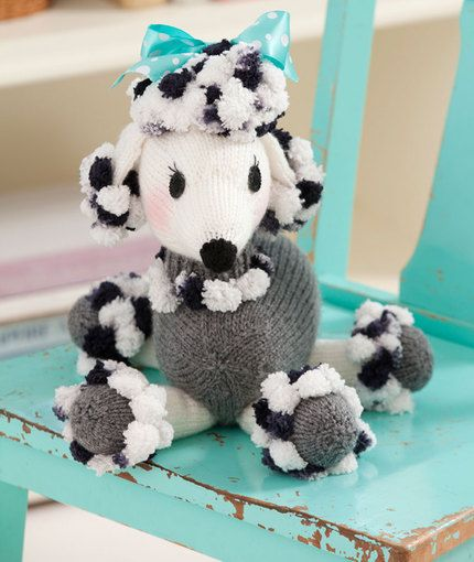 Free Amigurumi Poodle Pattern : Dominique pomp a poodle knitting pattern red heart