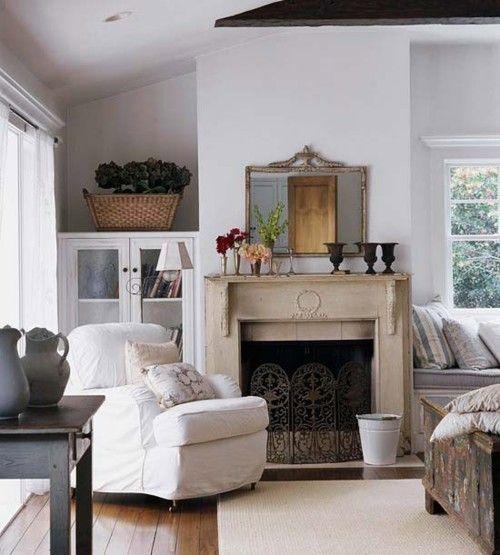 beautiful old fireplace