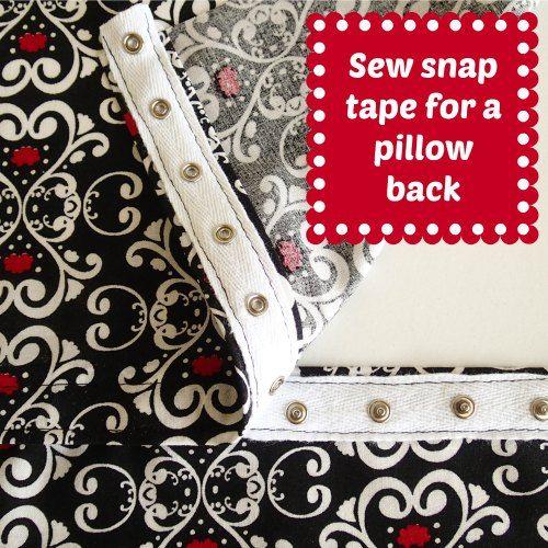 Como costurar fita pressão para fazer um travesseiro de volta assim que você pode remover a tampa para lavar roupa.