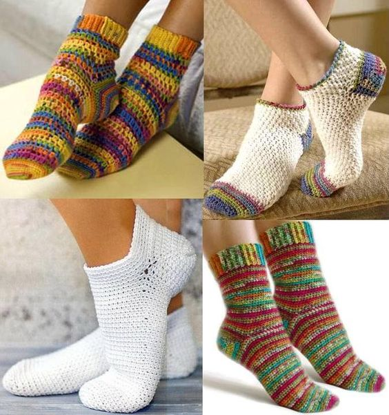 Stylish Easy Crochet: Warm Socks - Crochet Socks For Both Women And Men