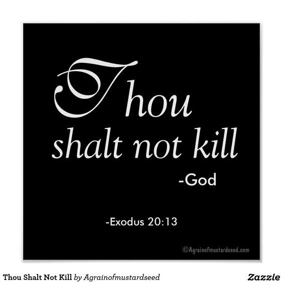 Thou Shalt Not Kill Exodus 20:13 Poster